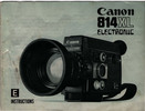 Thumbnail CANON 814XL ELECTRONIC BLACK SUPER 8 CAMERA MANUAL