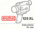 Thumbnail EUMIG 125XL SUPER 8 CAMERA MANUAL