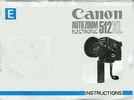 Thumbnail Canon 512XL Super 8 Camera Manual