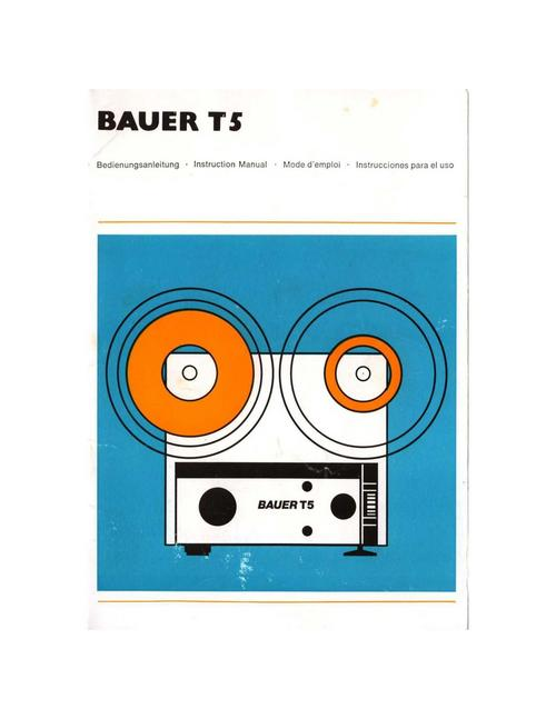 Product picture BAUER T5 SUPER 8 PROJECTOR MANUAL