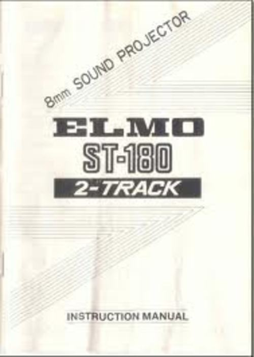 Product picture Elmo ST-180 Super 8 Projector Manual